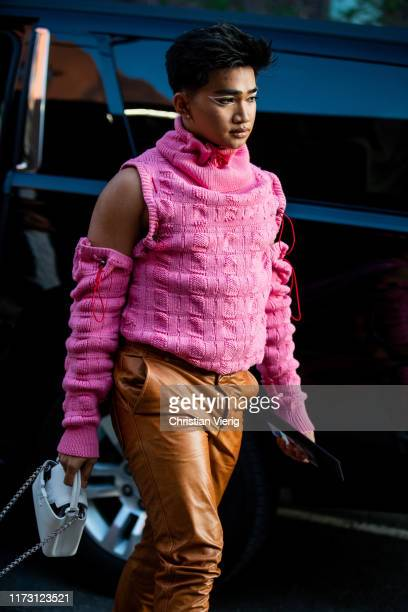 Bretman Rock is seen outside Brandon Maxwell during New York Fashion Week September 2019 on September 07 2019 in New York City