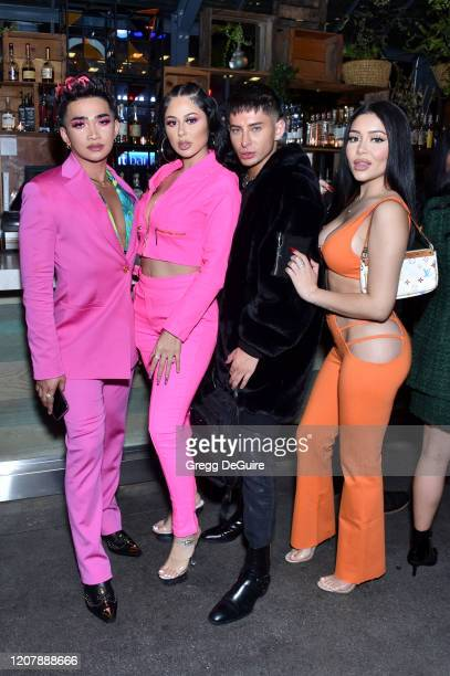 Bretman Rock Jennifer Ruiz guest and Daisy Marquez attends Jungle Rock x wet n wild on February 21 2020 in Los Angeles California