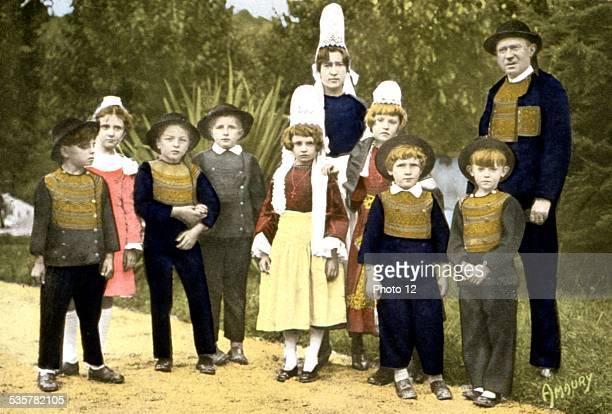 Breton family from the region of Pontl'Abbé c1900 France
