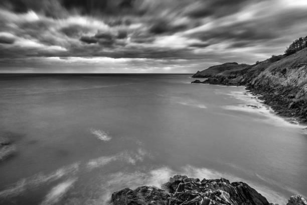 Breton seascape in black & white