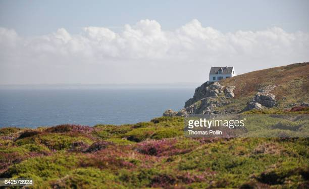 Breton style cliff house and heather land