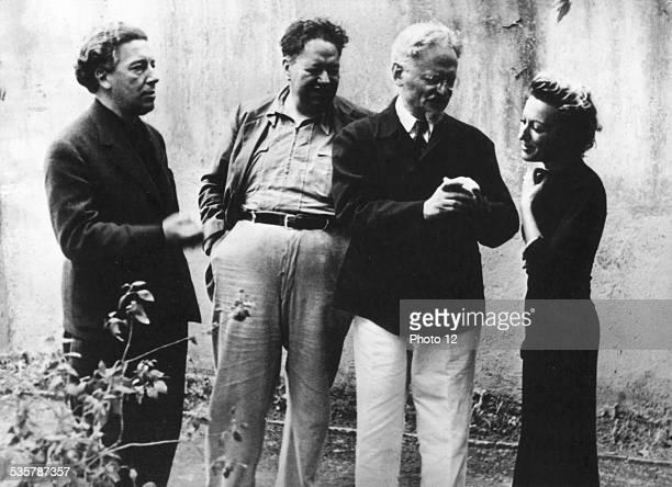 Breton with Trotski Diego Rivera and Jacqueline Lamba in Mexico City Mexico Jacqueline Lamba Collection