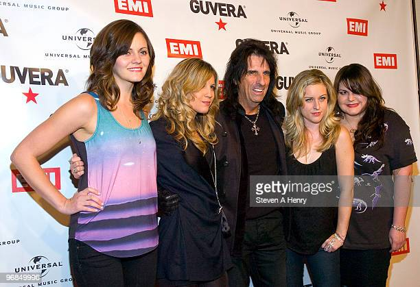 Brett Anderson Allison Robertson Alice Cooper Torry Castellano and Maya Ford attend the Guvera PreLaunch Party at the Metropolitan Pavilion on...