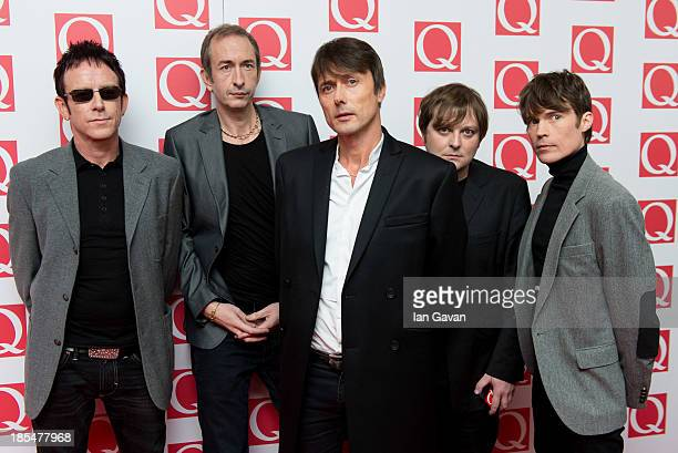 Brett Anderson and Suede attends The Q Awards at The Grosvenor House Hotel on October 21 2013 in London England