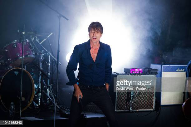Brett Anderson from Suede performs at La Cigale on October 3, 2018 in Paris, France.