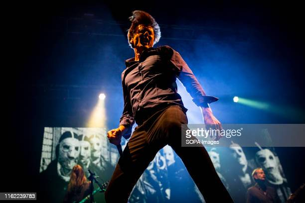 Brett Anderson from the English rock band Suede performs live on stage at the Vodafone Paredes de Coura music festival