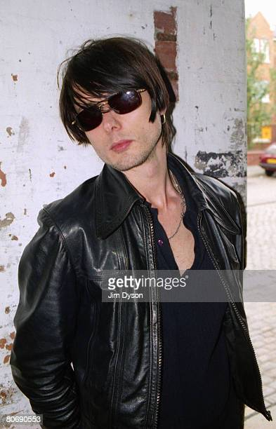 Brett Anderson of British rock group Suede poses outside the Music House circa 1997 in Liverpool