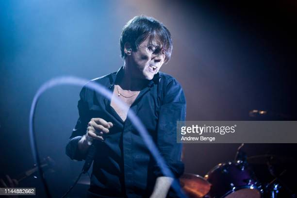 Brett Anderson of Suede peforms on stage at O2 Academy Leeds on April 24 2019 in Leeds England