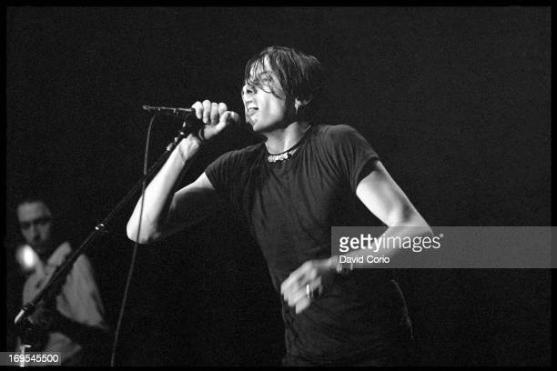 Brett Anderson of Suede performing at the Manhattan Center New York on 14 February 1995