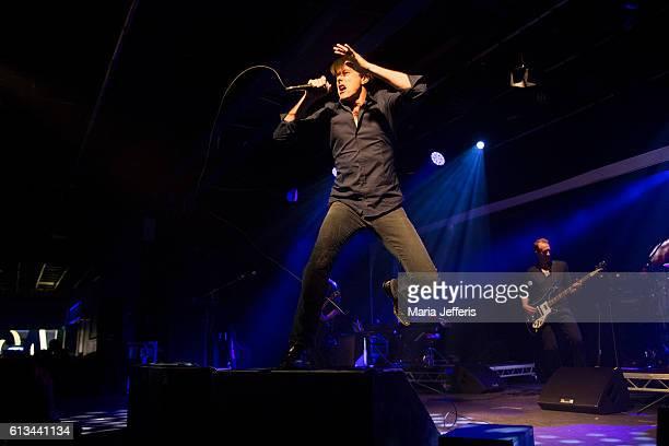 Brett Anderson of Suede performs at Butlins on October 8 2016 in Bognor Regis England