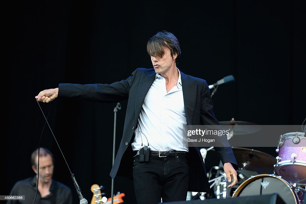Brett Anderson of Suede performs at The Isle of Wight Festival at Seaclose Park on June 15, 2014 in Newport, Isle of Wight.