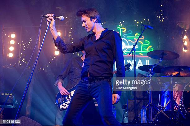 Brett Anderson of Suede performs headlining day 2 of the BBC 6 Music Festival onstage at Motion on February 13 2016 in Bristol England