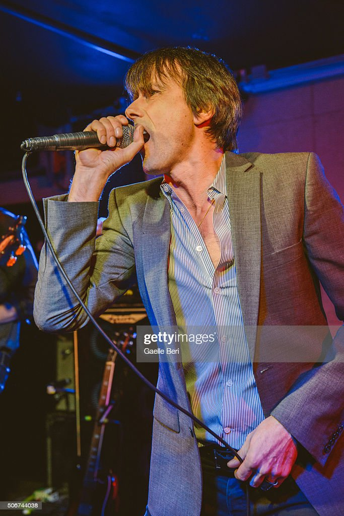Brett Anderson of Suede performs live at The Ace Hotel on January 25, 2016 in London, England.