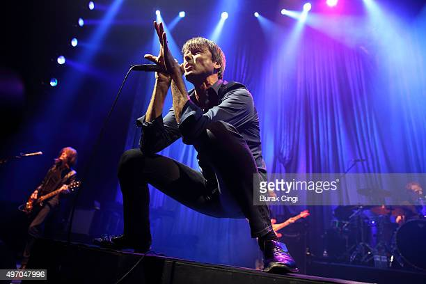 Brett Anderson of Suede performs live at The Roundhouse on November 13 2015 in London England