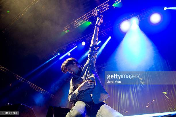 Brett Anderson of Suede performs on stage during BIME Live day 1 at BEC on October 28 2016 in Bilbao Spain