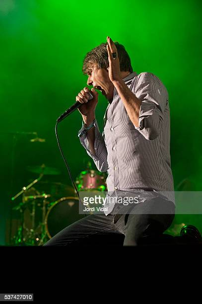 Brett Anderson of Suede performs on stage during Primavera Sound Festival 2016 Day 1 at Parc del Forum in Barcelona Spain