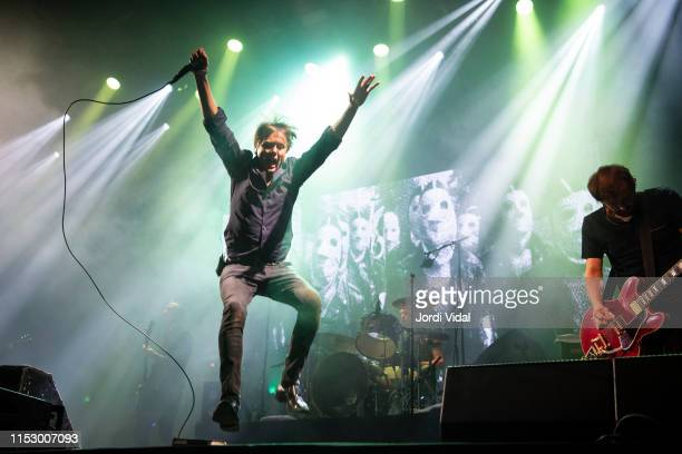 Brett Anderson of Suede performs on stage during Primavera Sound Festival at Parc del Forum on May 31 2019 in Barcelona Spain