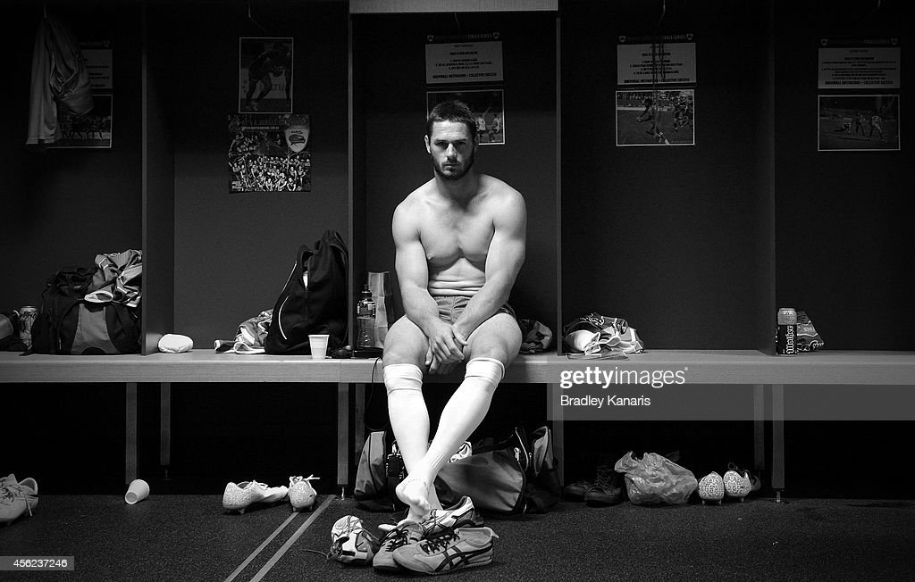 Brett Anderson of the Pride prepares before the Intrust Super Cup Grand Final match between Northern Pride and Easts Tigers at Suncorp Stadium on September 28, 2014 in Brisbane, Australia.