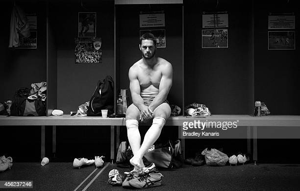 Brett Anderson of the Pride prepares before the Intrust Super Cup Grand Final match between Northern Pride and Easts Tigers at Suncorp Stadium on...