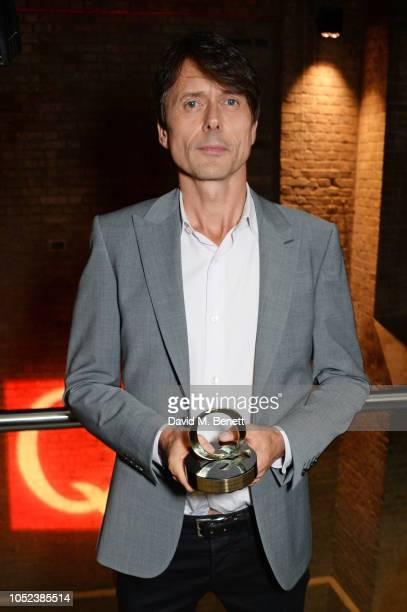 Brett Anderson winner of the Q Lifetime Achievement Award poses at the Q Awards 2018 at The Roundhouse on October 17 2018 in London England