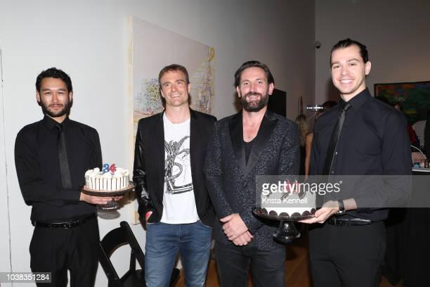 Brett Barna and Thomas Keown at Thomas Keown 40th Birthday To Benefit Many Hopes on September 22 2018 in New York City