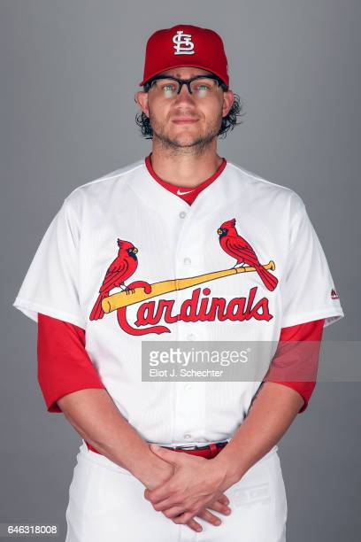 Brett Cecil of the St Louis Cardinals poses during Photo Day on Monday February 20 2017 at Roger Dean Stadium in Jupiter Florida