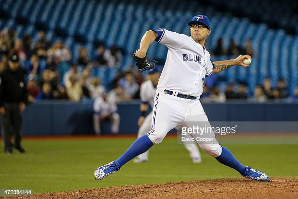 Brett Cecil of the Toronto Blue Jays closed out the game as the Toronto Blue Jays beat the New York Yankees 5-1at the Rogers Centre May 6, 2015
