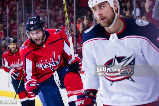 2a53c2ac8a6 Brett Connolly of the Washington Capitals celebrates after scoring a first  period goal against the Columbus