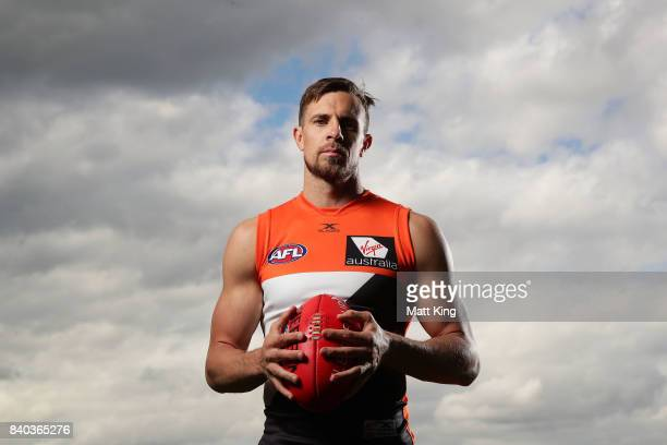 Brett Deledio of the Giants poses after a Greater Western Sydney Giants AFL training session at WestConnex Centre on August 29 2017 in Sydney...