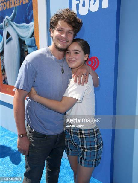 Brett Dier and Haley Lu Richardson attend the premiere of Warner Bros Pictures' 'Smallfoot' at the Regency Village Theatre on September 22 2018 in...