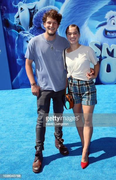 Brett Dier and Haley Lu Richardson attend the premiere of Warner Bros Pictures' 'Smallfoot' at Regency Village Theatre on September 22 2018 in...