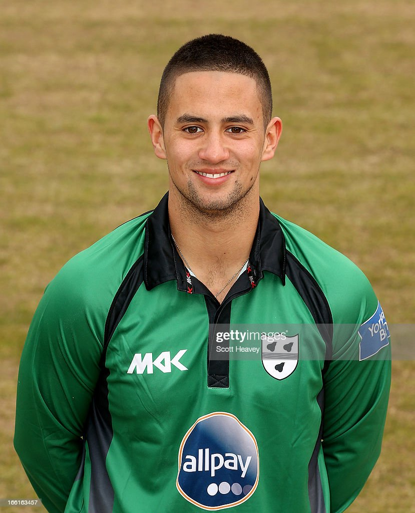 Brett D'Oliveira during a Photocall for Worcestershire County Cricket Club on April 9, 2013 in Worcester, England.