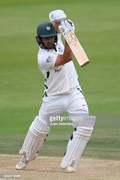 Brett D'Oliveira of Worcestershire plays a shot during the LV= Insurance County Championship match between Middlesex and Worcestershire at Lord's...