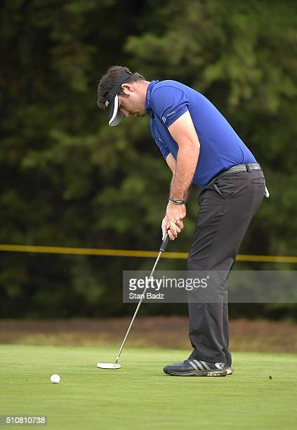 Brett Drewitt hits a putt on the fifth hole during the second round of the Web.com Tour Club Colombia Championship Presented by Claro at Bogotá...