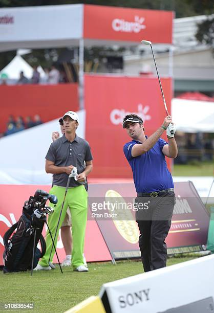 Brett Drewitt hits a tee shot on the 17th hole during the second round of the Web.com Tour Club Colombia Championship Presented by Claro at Bogotá...