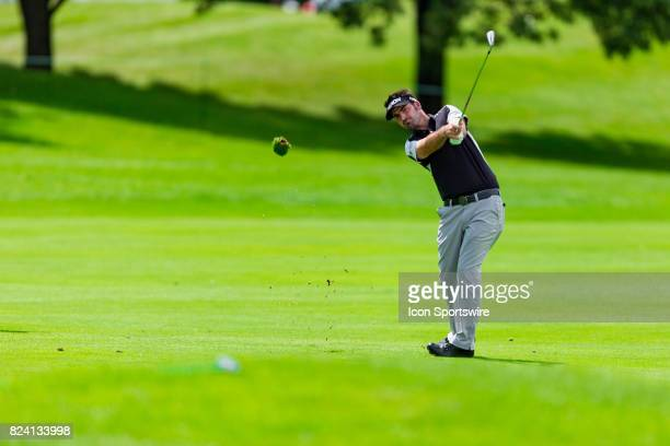 Brett Drewitt launches a shot from the fairway during second round action of the RBC Canadian Open on July 28 at Glen Abbey Golf Club in Oakville,...