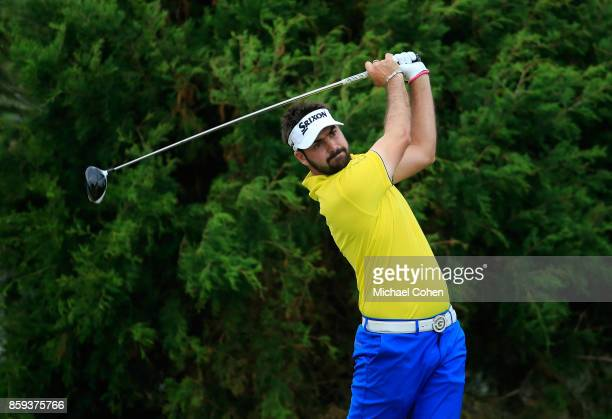 Brett Drewitt of Australia hits a drive during the third round of the Webcom Tour Championship held at Atlantic Beach Country Club on September 30...