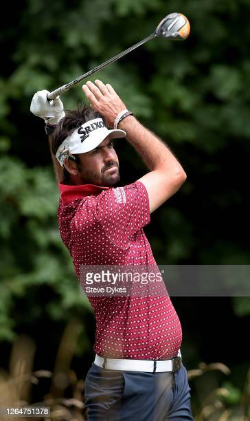 Brett Drewitt of Australia hits his tee shot on the 17th hole during the third round of the WinCo Foods Portland Open on Pumpkin Ridge's Witch Hollow...
