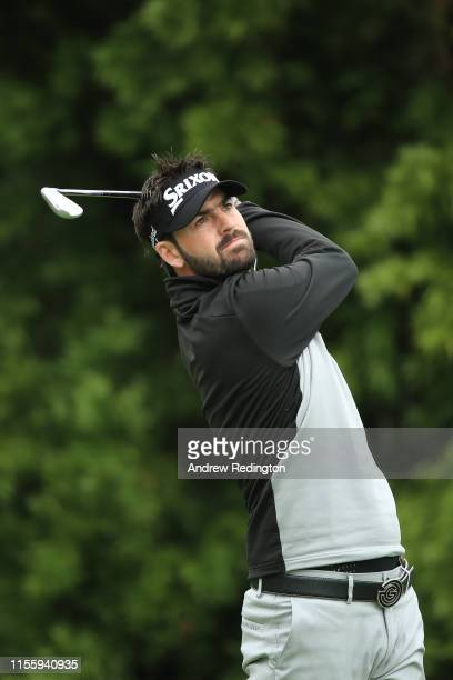 Brett Drewitt of Australia plays a shot from the 12th tee during the second round of the 2019 U.S. Open at Pebble Beach Golf Links on June 14, 2019...