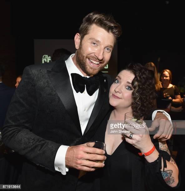 Brett Eldredge and Ashley McBryde attend the Warner Music Nashville CMA After Party on November 8 2017 in Nashville Tennessee