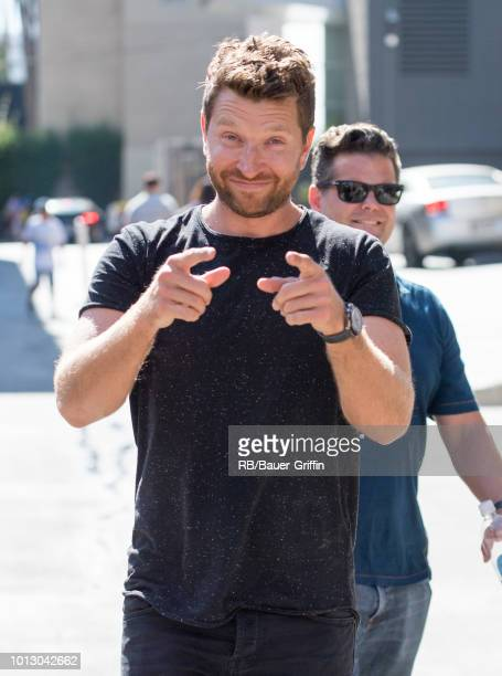 Brett Eldredge is seen at 'Jimmy Kimmel Live' on August 07 2018 in Los Angeles California