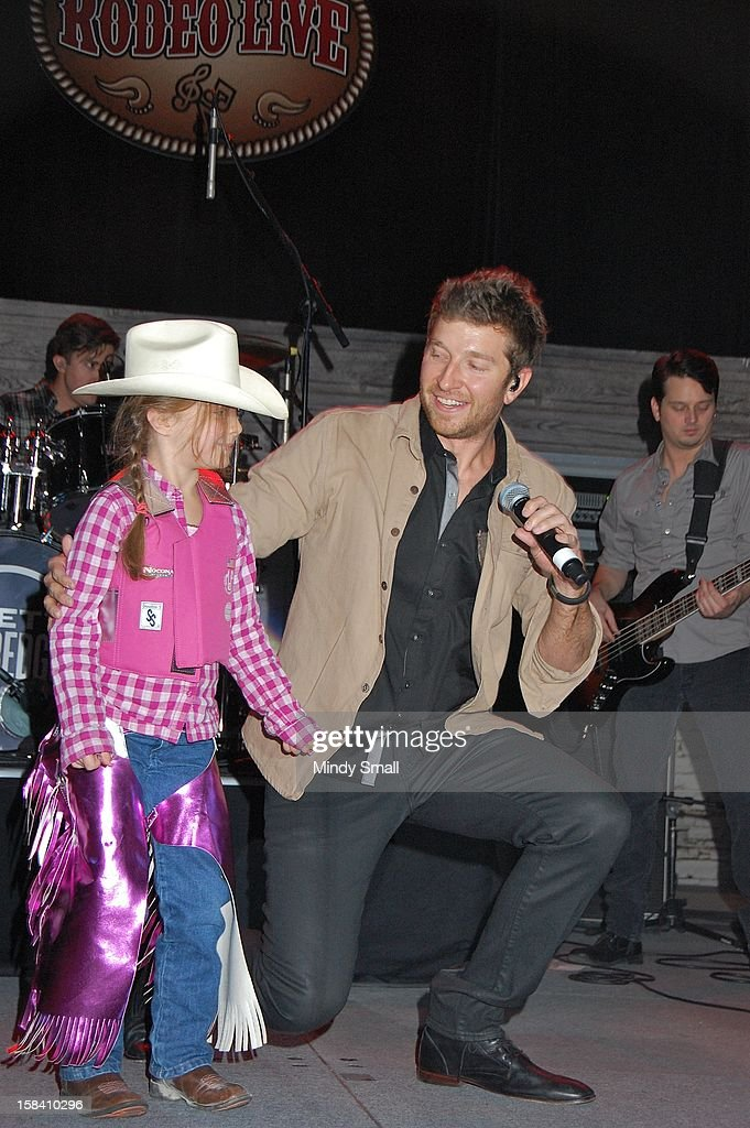 Brett Eldredge performs at Cowboy FanFest during the Wrangler National Finals Rodeo at the Las Vegas Convention Center on December 15, 2012 in Las Vegas, Nevada.