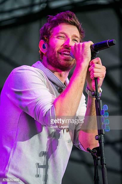 Brett Eldredge performs at the 955 WYCD Downtown Hoedown at West Riverfront Park on June 5 2015 in Detroit Michigan