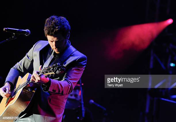 Brett Eldredge performs at the Fifth annual New Year's Eve Bash on Broadway on December 31 2013 in Nashville Tennessee