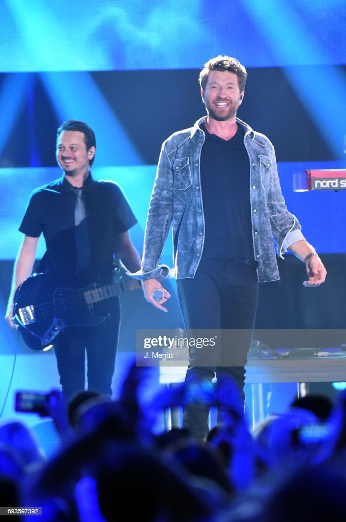 Brett Eldredge performs onstage at the 2017 CMT Music Awards at the Music City Center on June 7, 2017 in Nashville, Tennessee.