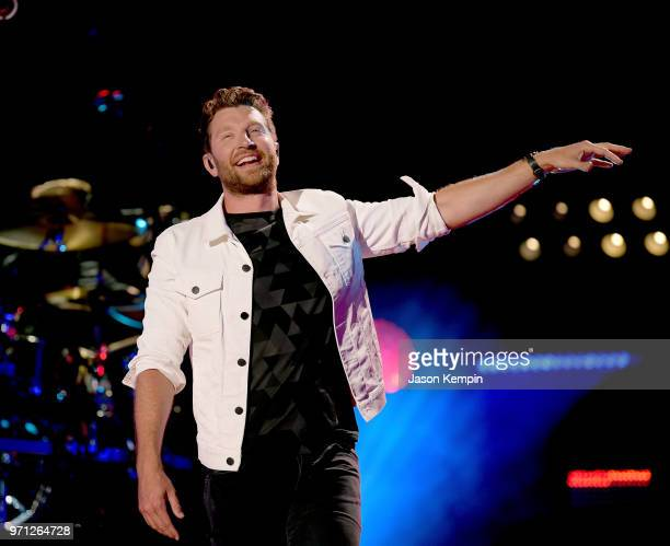 Brett Eldredge performs onstage during the 2018 CMA Music festival at Nissan Stadium on June 10 2018 in Nashville Tennessee
