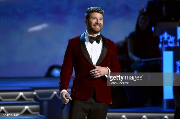 Brett Eldredge performs onstage for CMA 2017 Country Christmas at The Grand Ole Opry on November 14 2017 in Nashville Tennessee