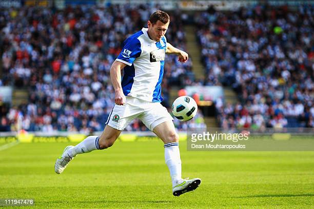 Brett Emerton of Blackburn in action during the Barclays Premier League match between Blackburn Rovers and Birmingham City at Ewood park on April 9...