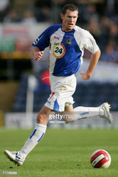 Brett Emerton of Blackburn Rovers in action during the Barclays Premiership match between Blackburn Rovers and Chelsea at Ewood Park on August 27...