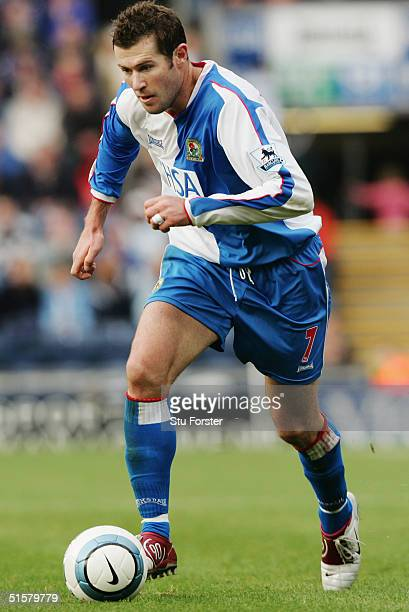 Brett Emerton of Blackburn Rovers in action during the FA Barclays Premiership match between Blackburn Rovers and Middlesbrough at Ewood Park on...